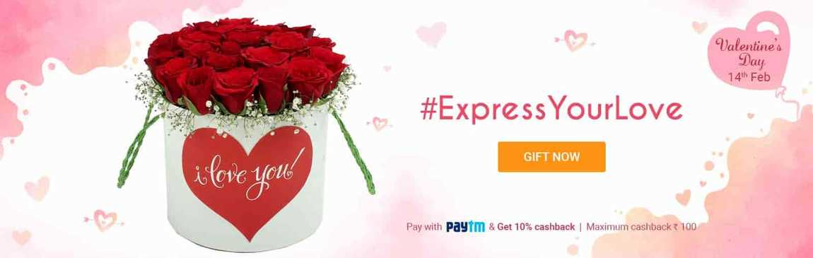 Fernsnpetals  Offer  15% off on Valentine's Day Gifts