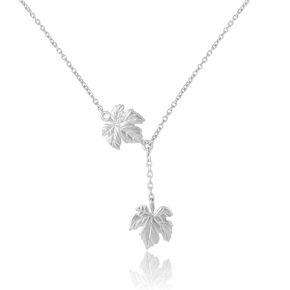 Ivy Leaves Sterling Silver Neckpiece Necklace