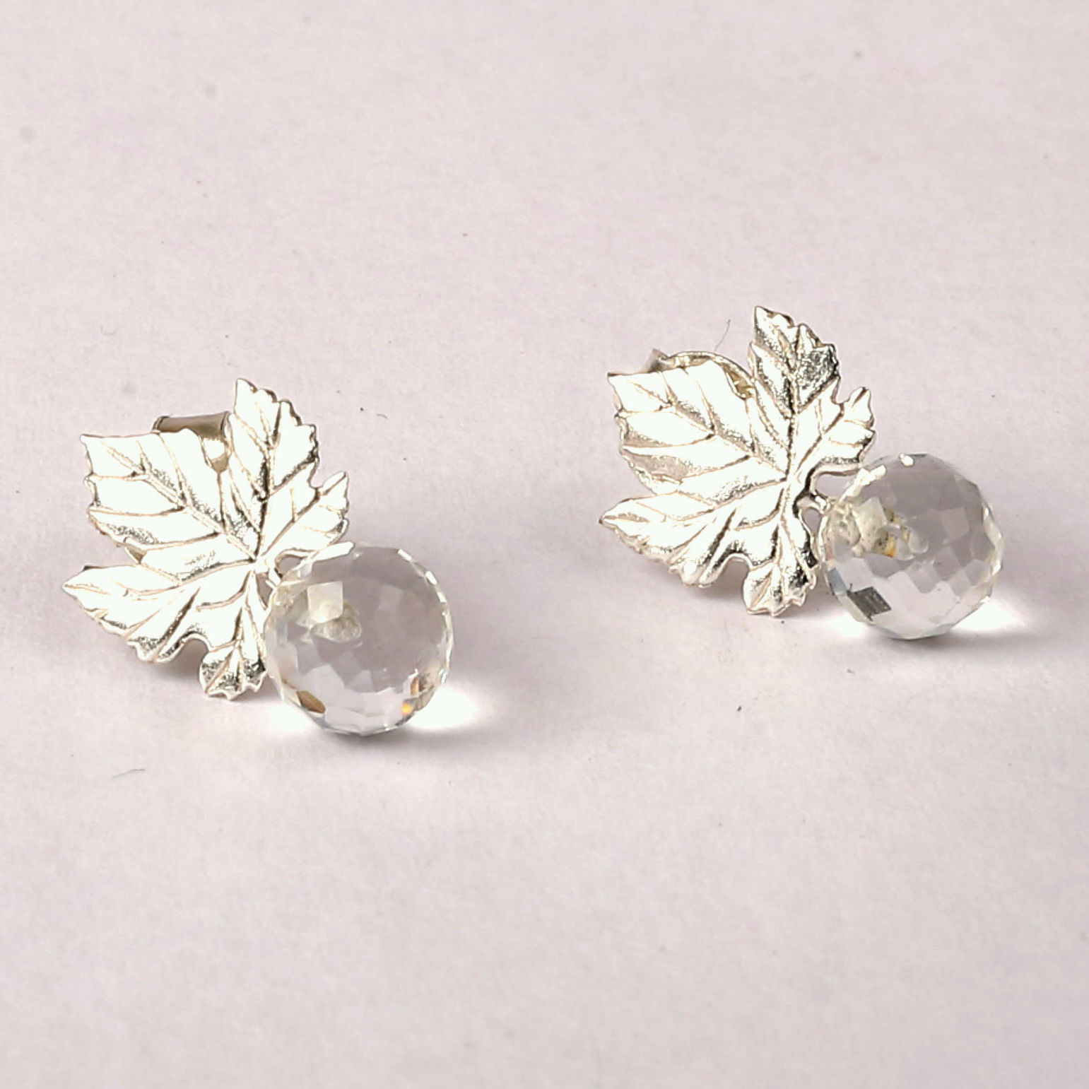 Ivy Studs Sterling Silver Earrings