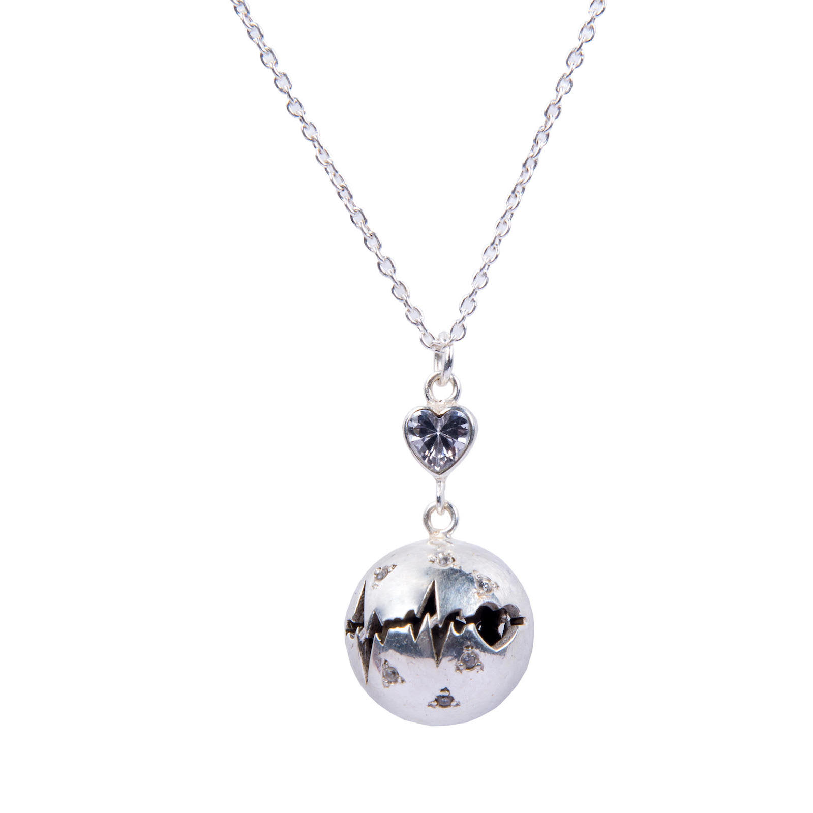 Sterling Silver Mylifeline With Chain Necklace