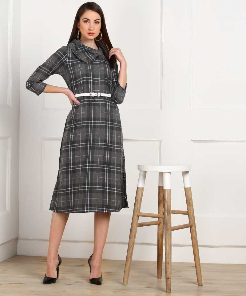 Women Shift Grey Dress by AND