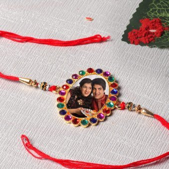 Colorful Sibling Love Personalised Rakhi Online