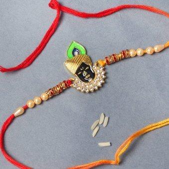 Jai Shree Krishna American Diamond Rakhi Online