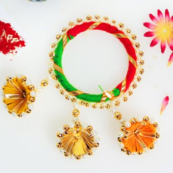 Fancy Lumba Rakhi for Bhabhi Online