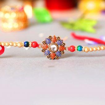 Colourful Kundan Rakhi Online