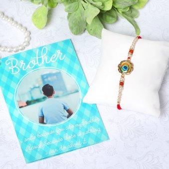Greeting Card Rakhi Combo Gift Online