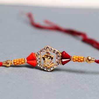 Glorious Ganesha Special Rakhi Online