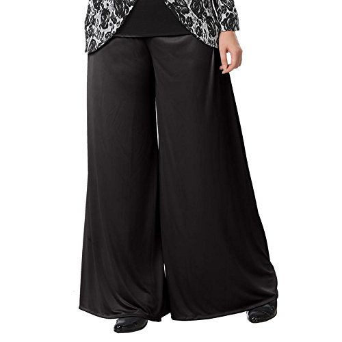 Full length palazzo with one side pocket black-xl