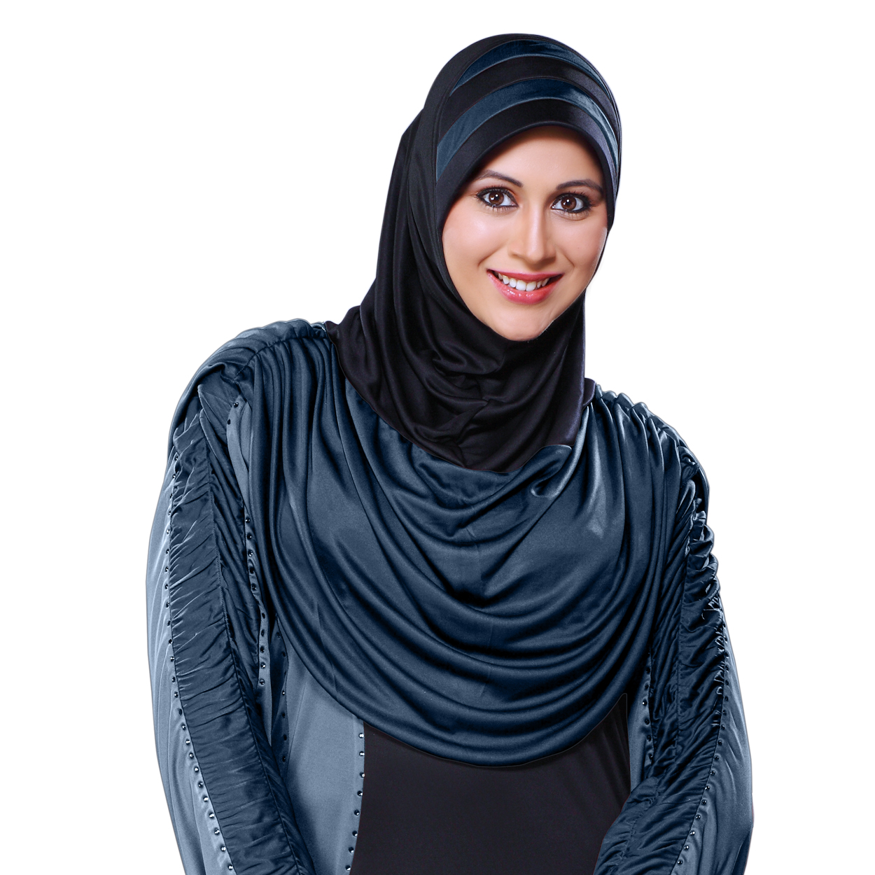 Ready to wear a trendy hijab in dual color Afeefa Black coco-XL