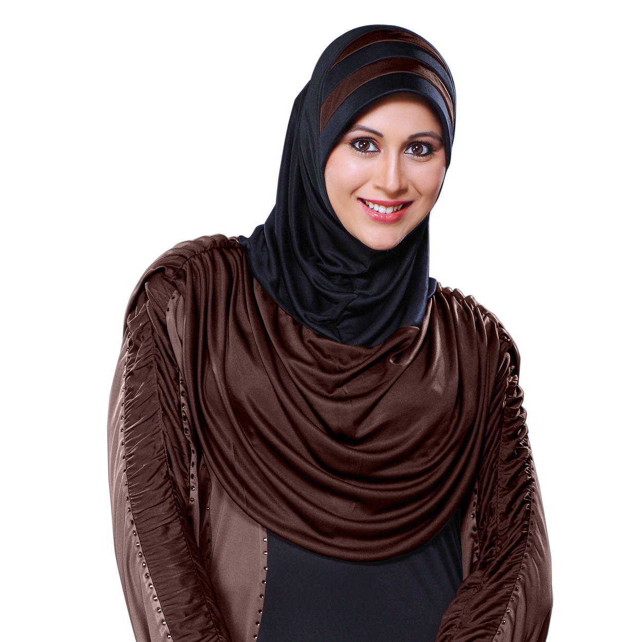 Ready to wear a trendy hijab in dual color Afeefa Black grey-XL