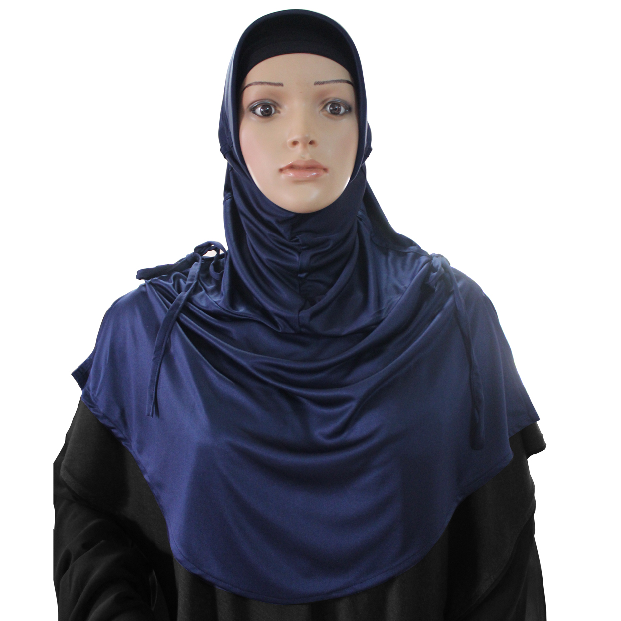 Ready to wear modest hijab Rania navy blue -xl