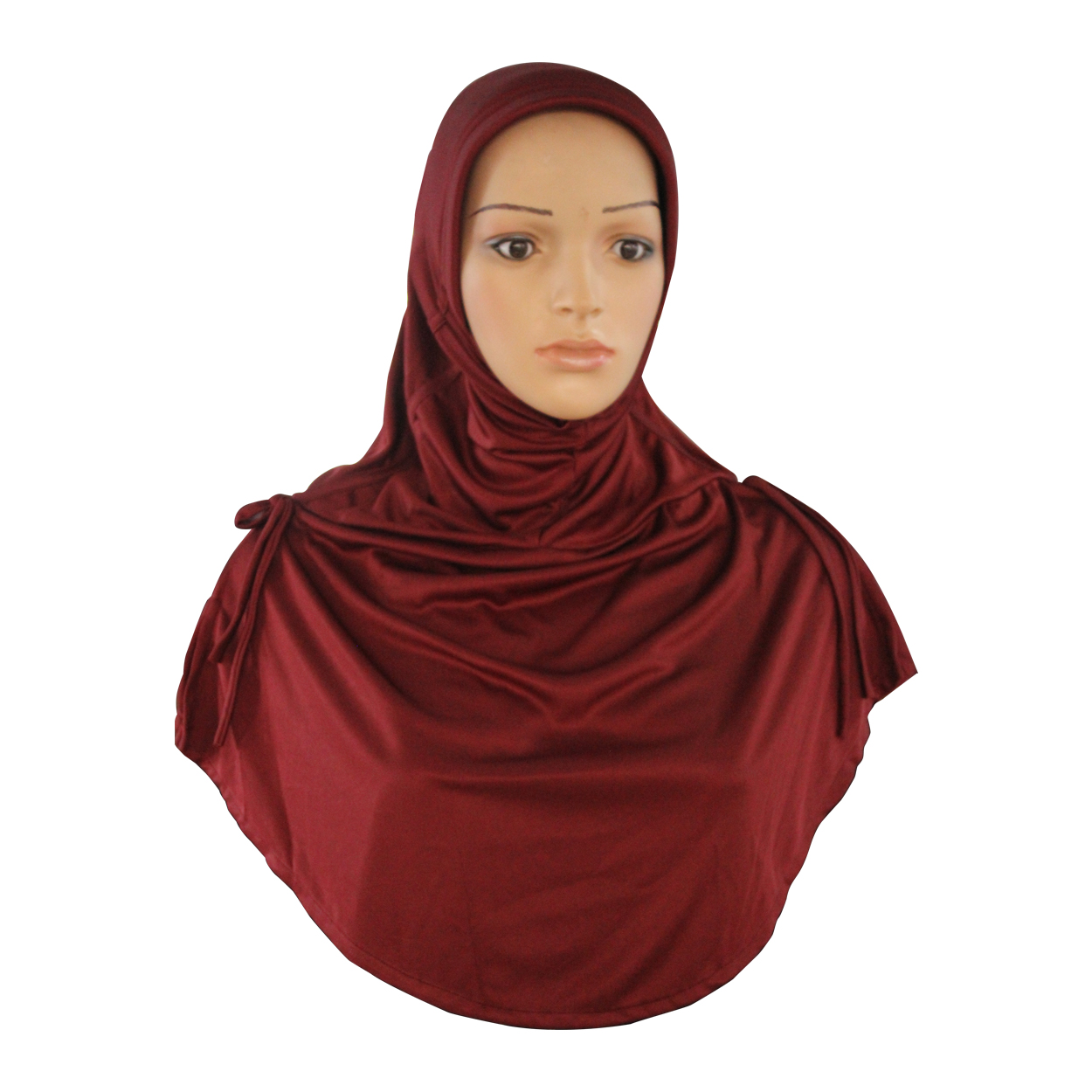 Ready to wear modest hijab Rania maroon -xl