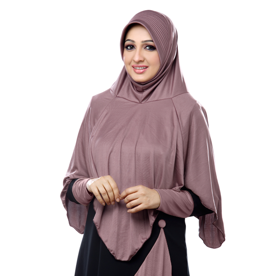 Ready to wear long covering modest hijab Nabah coffee-XL