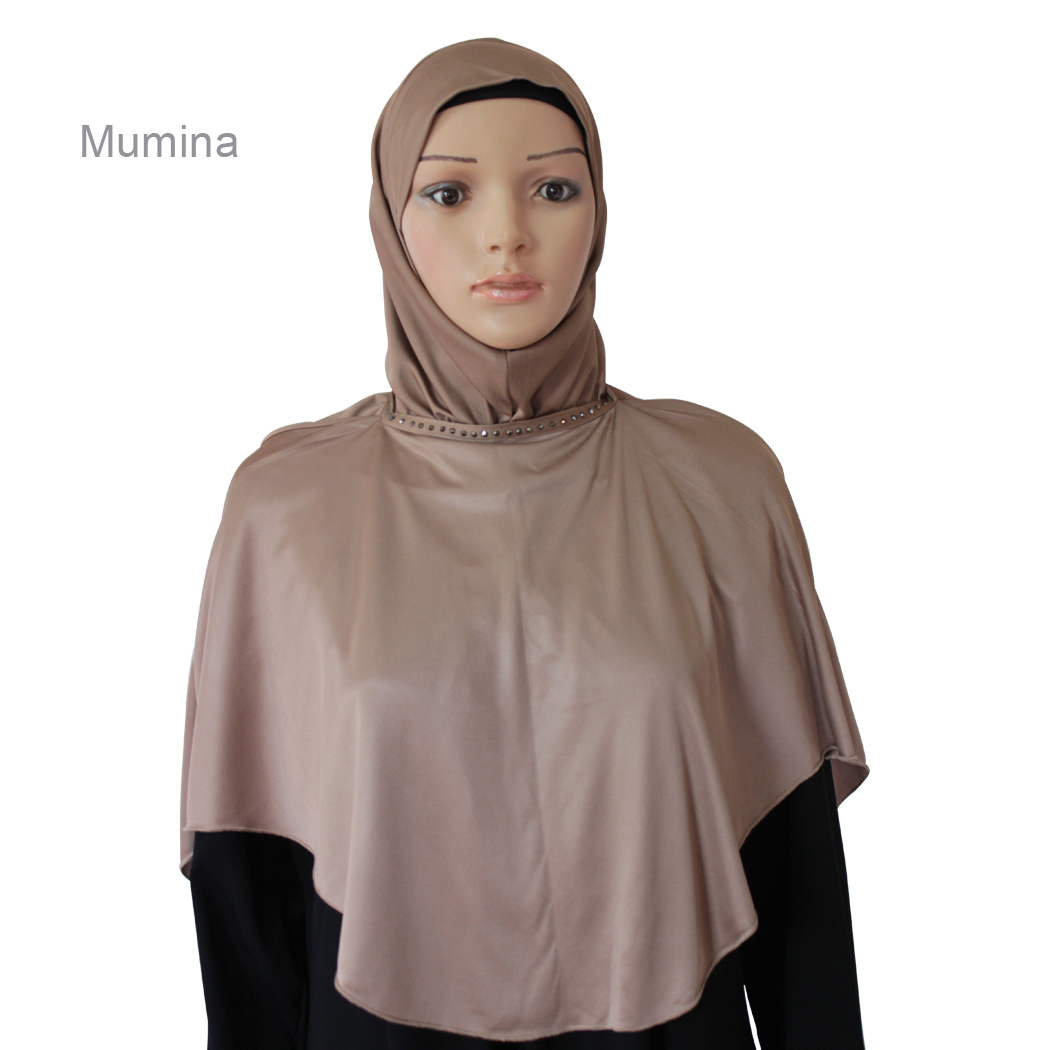 Ready to wear modest hijab can be worn like a face cover mumina maroon-xl