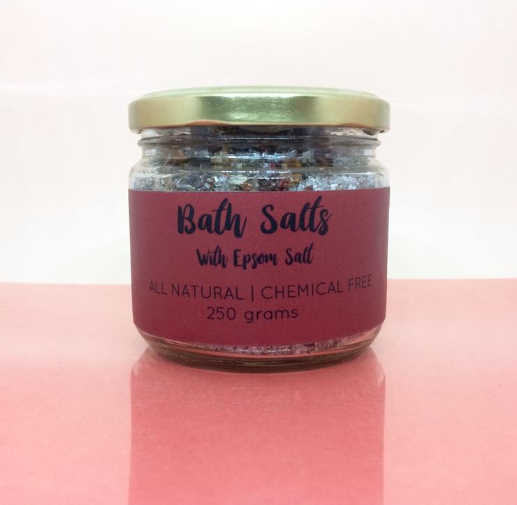 Natural Rose Lavender Bath Salts